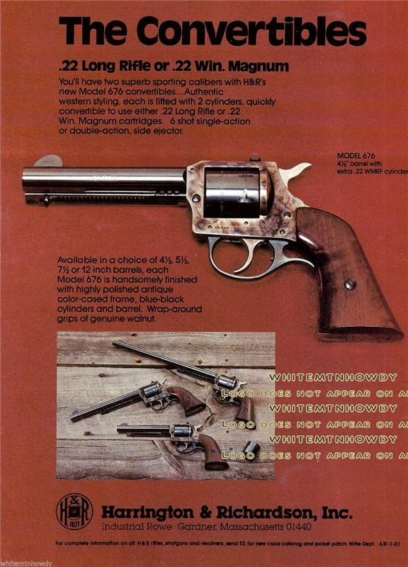 Pin On Harrington Richardson Firearms Advertising