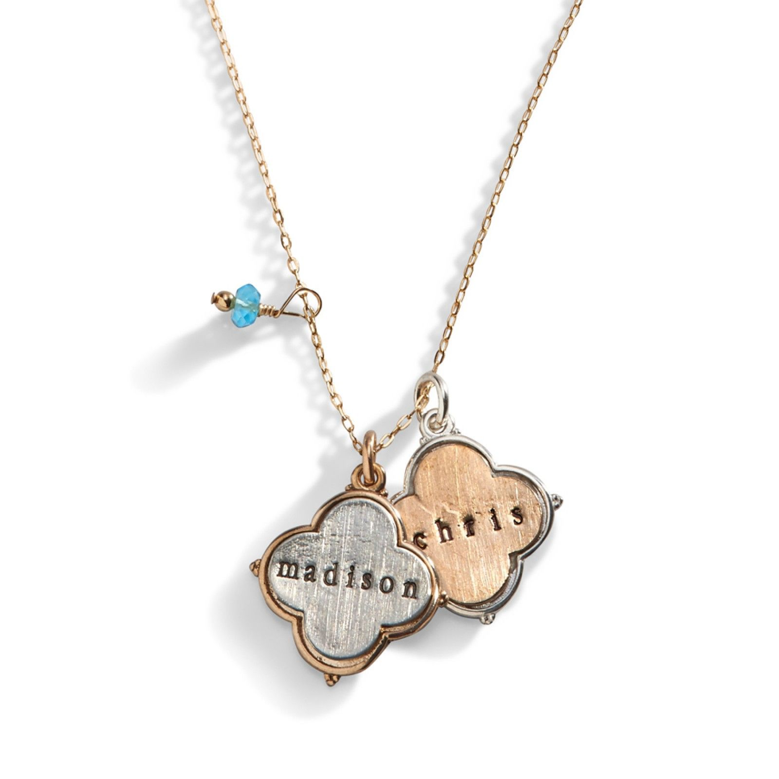 b0f53095113c9 Veronica Luck and Love Necklace   Personalized Jewelry   Love ...