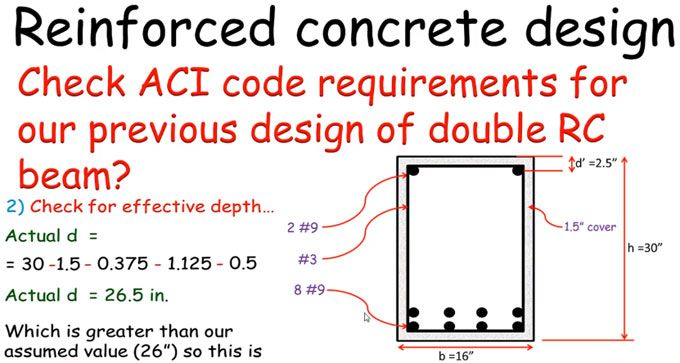 how to examine the aci code requirements for designing the