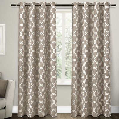 "Amalgamated Textiles Blackout Thermal Curtain Panels Size: 52"" W x 96"" L, Color: Taupe"
