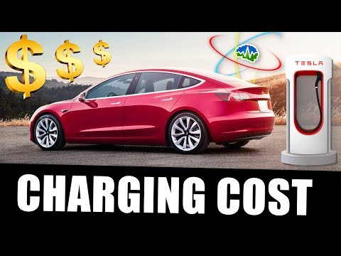 How Much Does It Cost To Charge A Model 3 Youtube Electric Car Charging Car Charging Stations Tesla Charging Stations