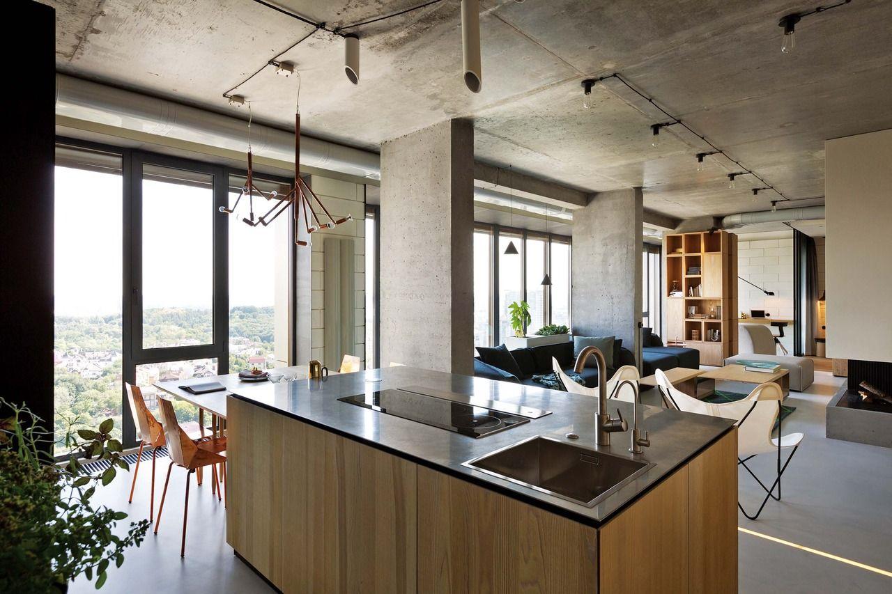 Una cocina que se fusiona con el entorno | Mesa de madera, El ...