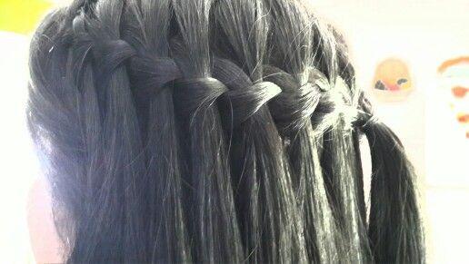 My hair linda trenza de cascada