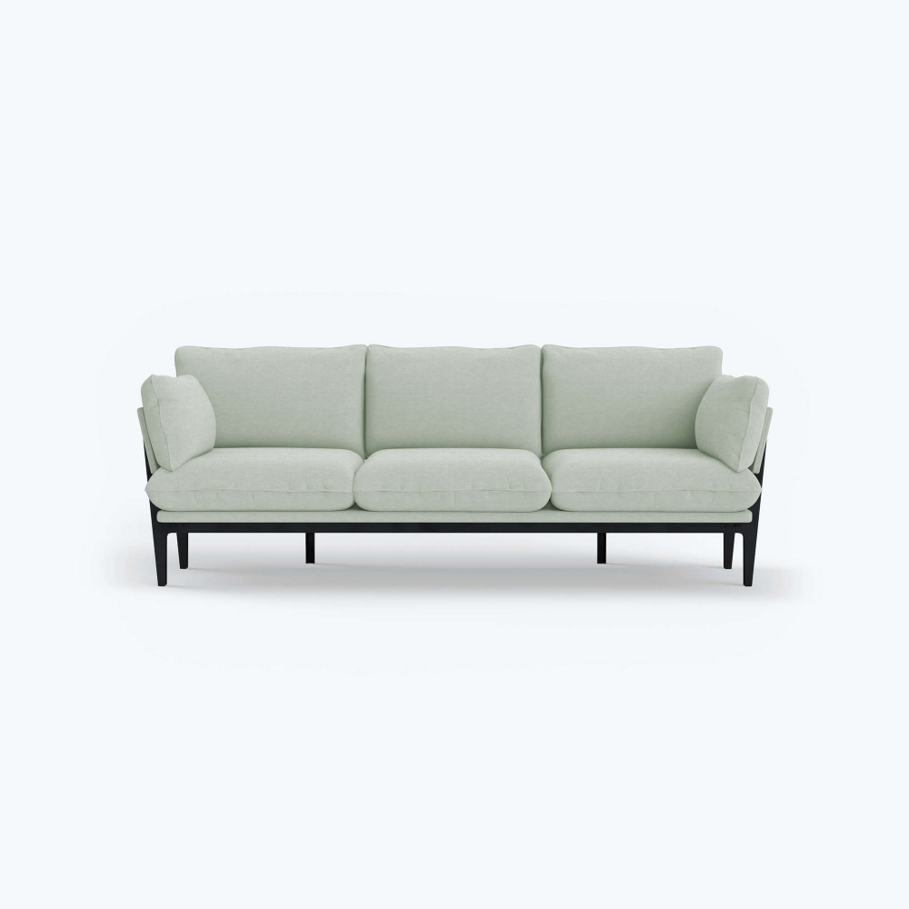 The Floyd Sofa 3 Seater Grey Wood Frame Modern Sofas Sofa