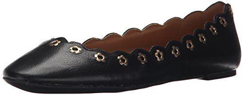 Nine West Women's Mintchip Leather Ballet Flat, Black,-$36.26