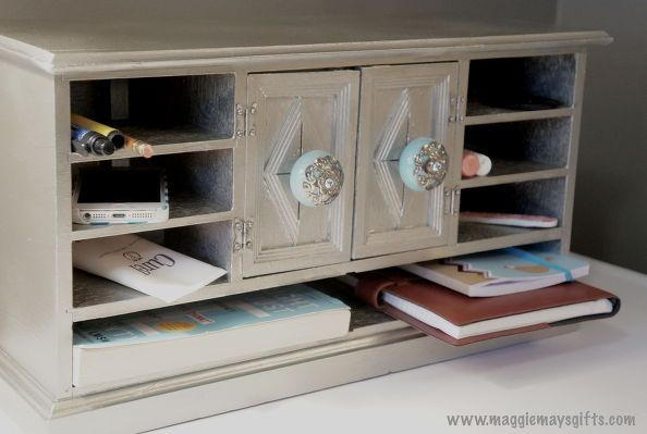 repurposed old jewelry chest to desk organizer, crafts, how to, repurposing upcycling