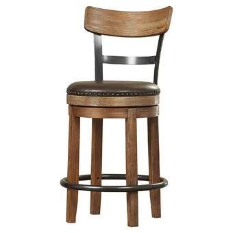 Oria Swivel Adjustable Height Bar Stool Bar Stools