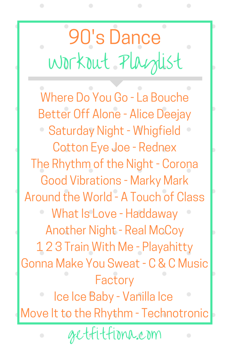 90's Dance Workout Playlist - Get Fit Fiona