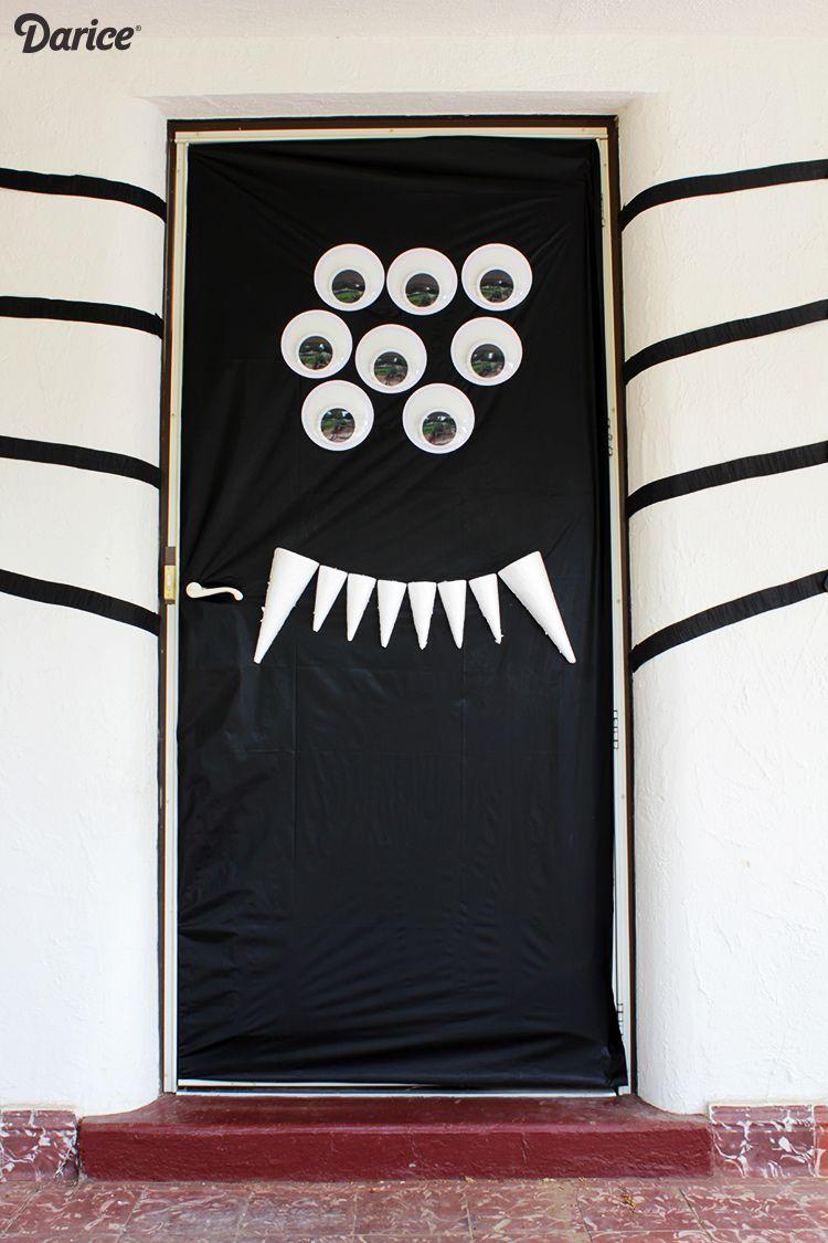 Halloween Door Decorations Diy Silly Spider Darice Halloween Front Doors Halloween Diy Door Halloween Door