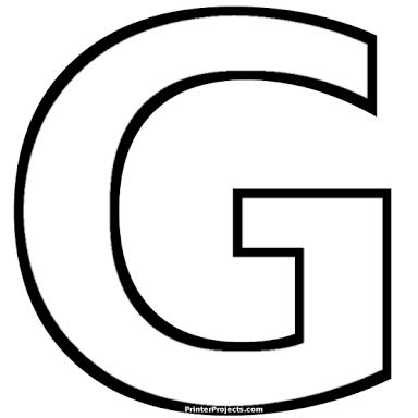 Resultado de imagem para molde da letra G | Patrones | Pinterest ...