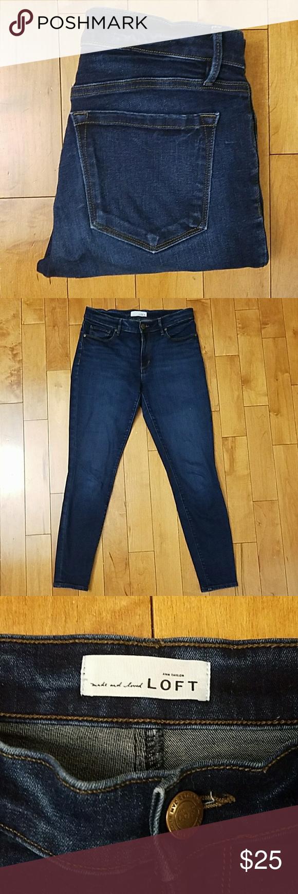 05cd21ecbddb80 Ann Taylor LOFT Legging Jeans Ann Taylor LOFT Legging Jeans. Size 28/6.  Excellent condition! 91% cotton, 7% polyester, 2% spandex. 15.25