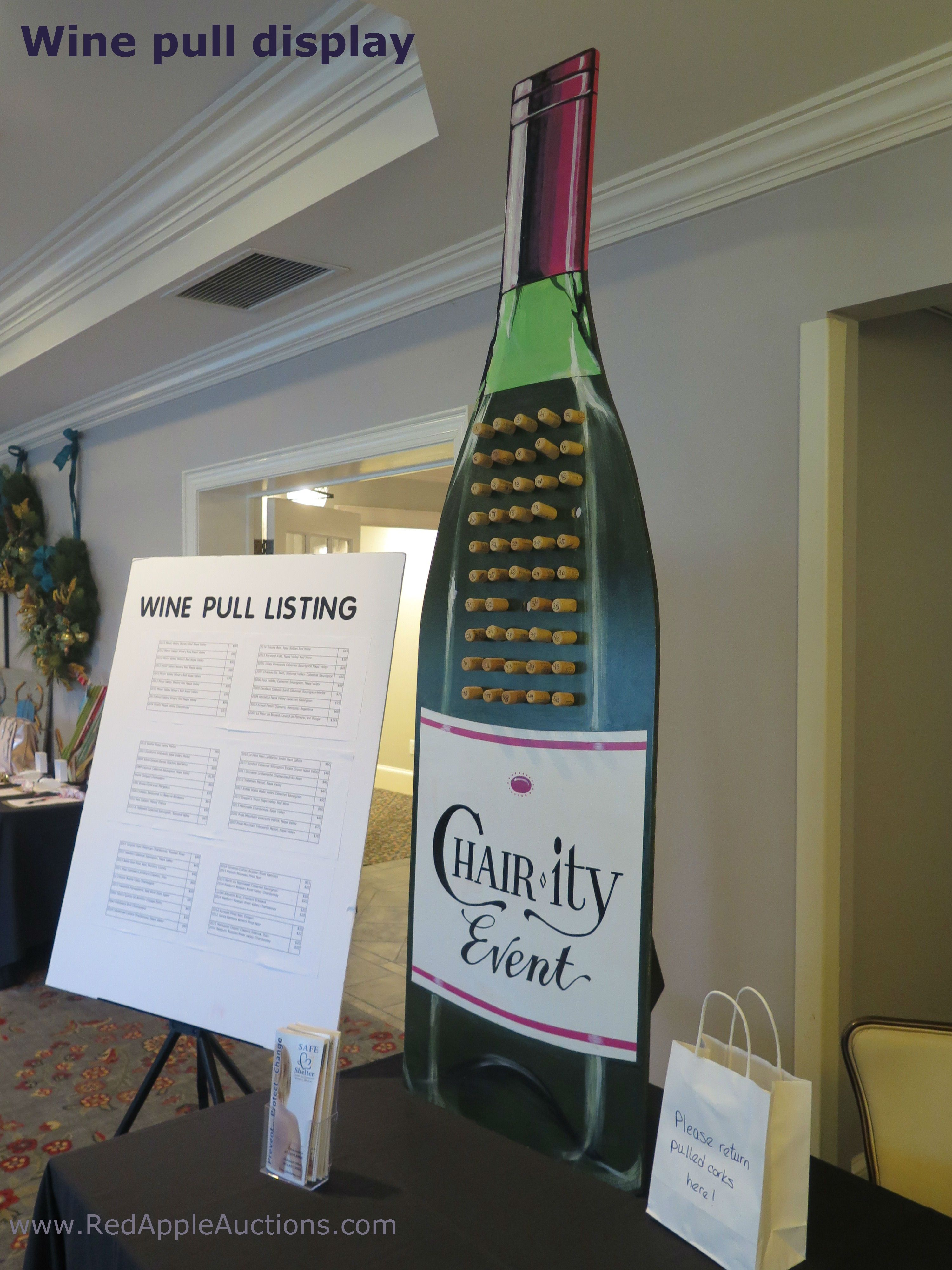 Usable Wine Pull Display Gala Auction