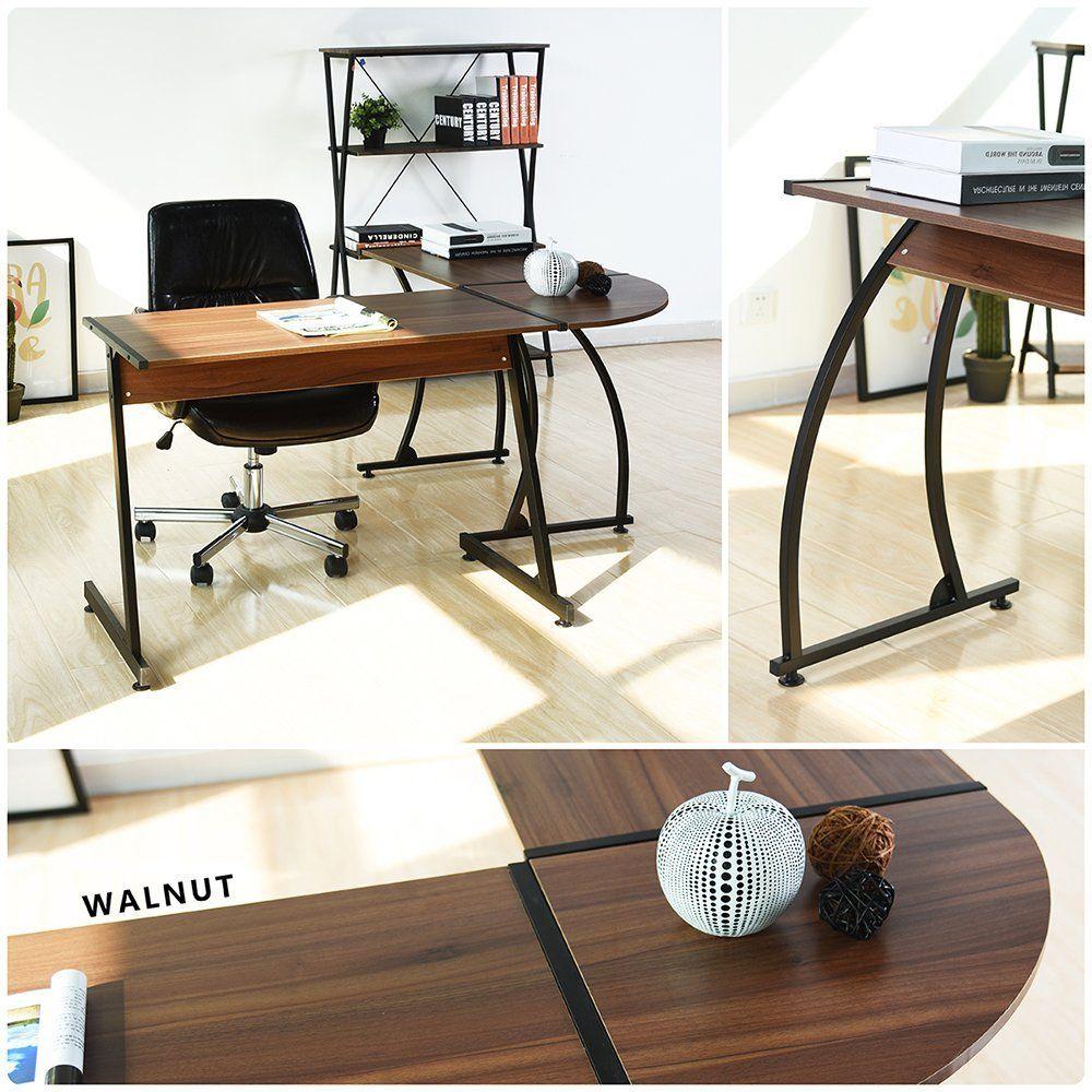 Outstanding L Shape Corner Table Computer Desk Pc Laptop Table Download Free Architecture Designs Ferenbritishbridgeorg