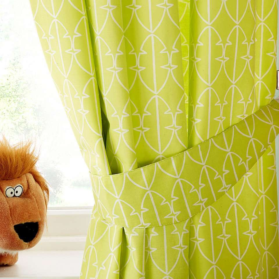 Kids Safari Friends Blackout Eyelet Curtains Dunelm