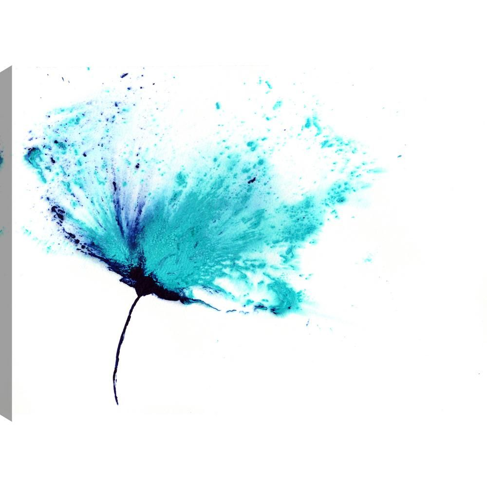 The blue flower iv floral art unframed canvas print wall art