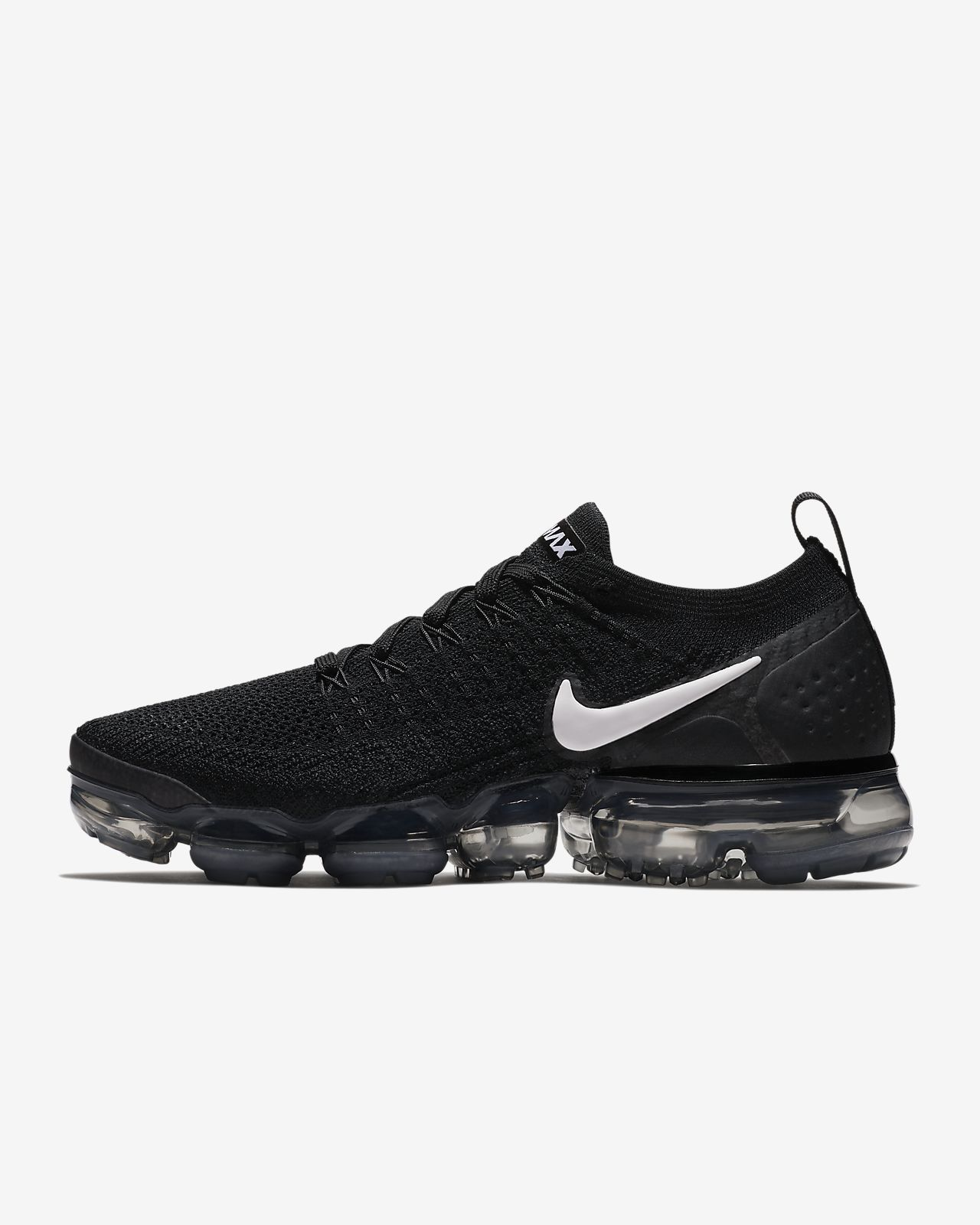 b0a36da23b5cc Womens Nike Air VaporMax Flyknit 2 Running Shoe Black Dark Grey Metallic  Silver White Style  942843-001
