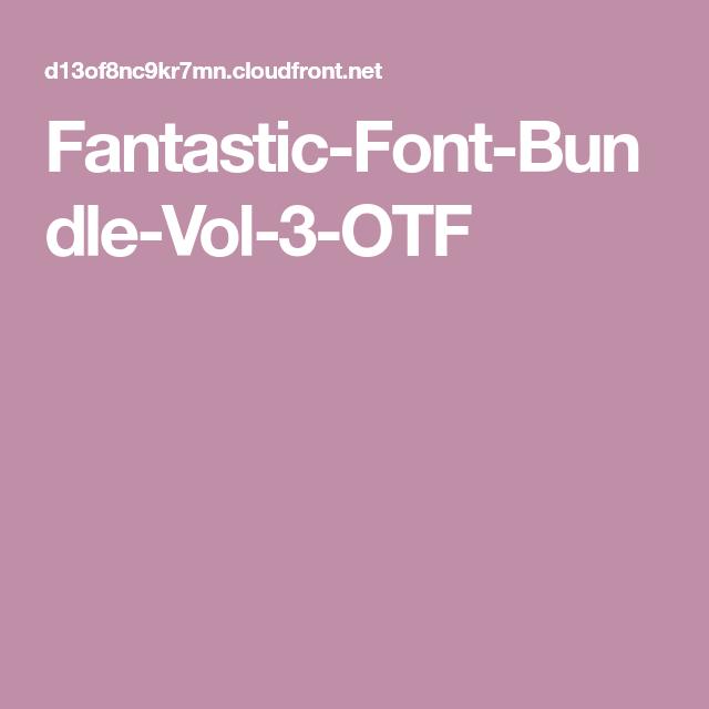 Download Fantastic-Font-Bundle-Vol-3-OTF (With images) | Free fonts ...