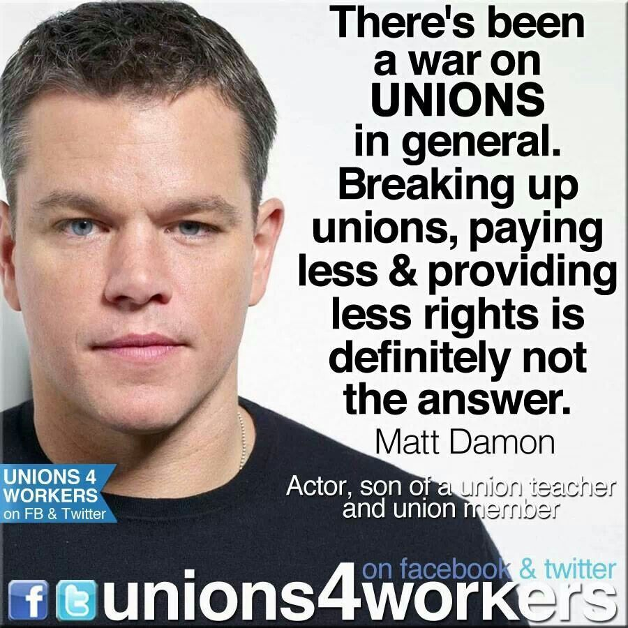 Matt Damion Quote On Supporting Unions Unions=human Rights