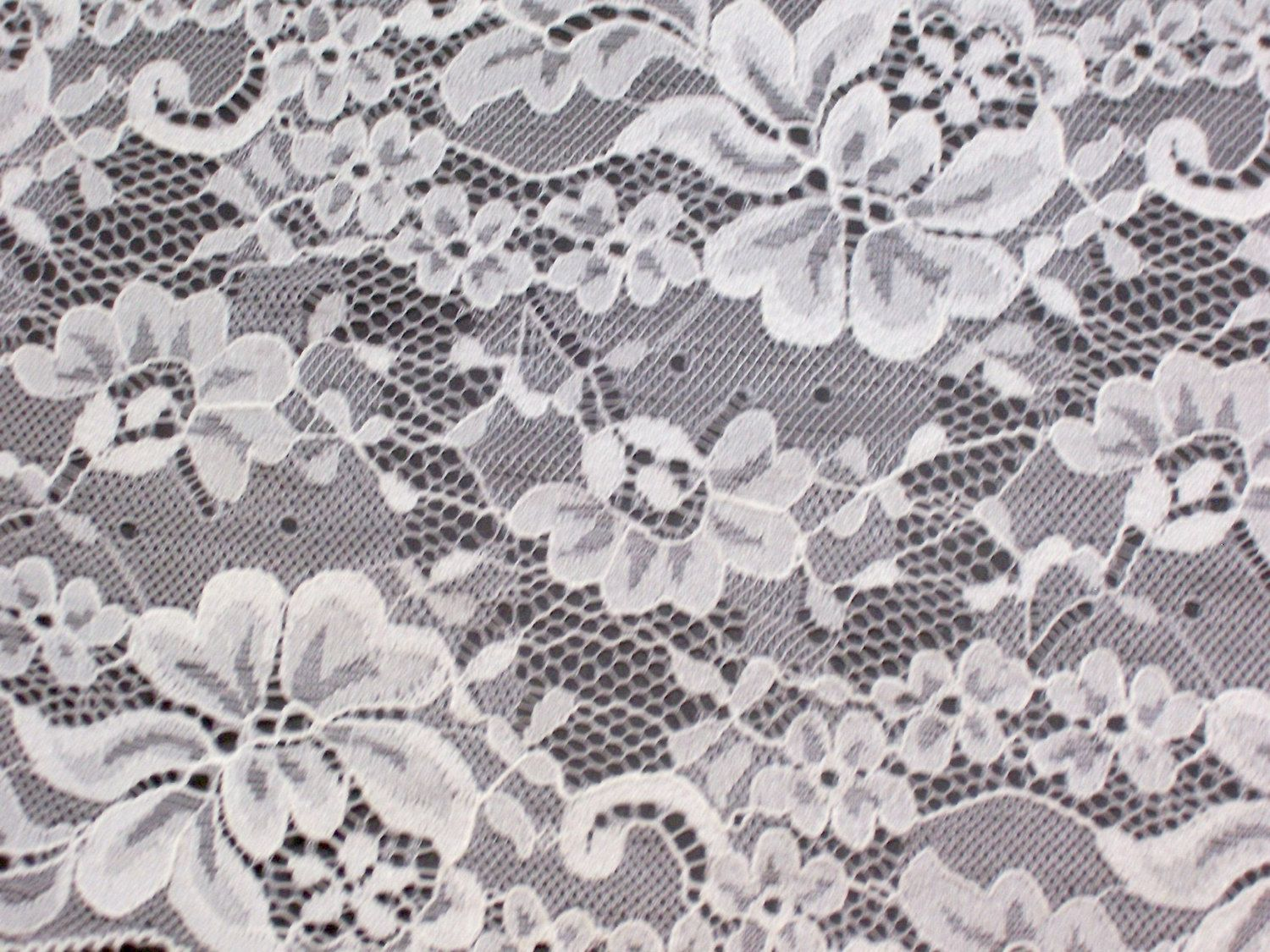 Wide Ivory Lace 5 1/2 inches wide x 1 yard, Wide Lace by GriffithGardens on Etsy