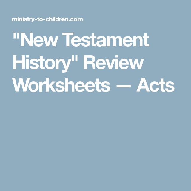 New Testament History\