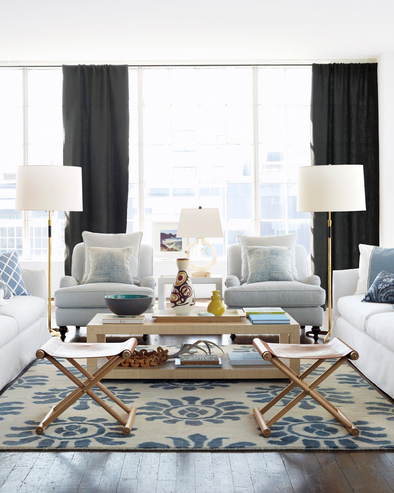 Coastal Style Classic Hamptons Style with Blue Accents