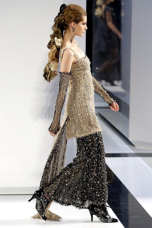 Tereza Cervenova at Chanel Haute Couture F/W 2009-10.
