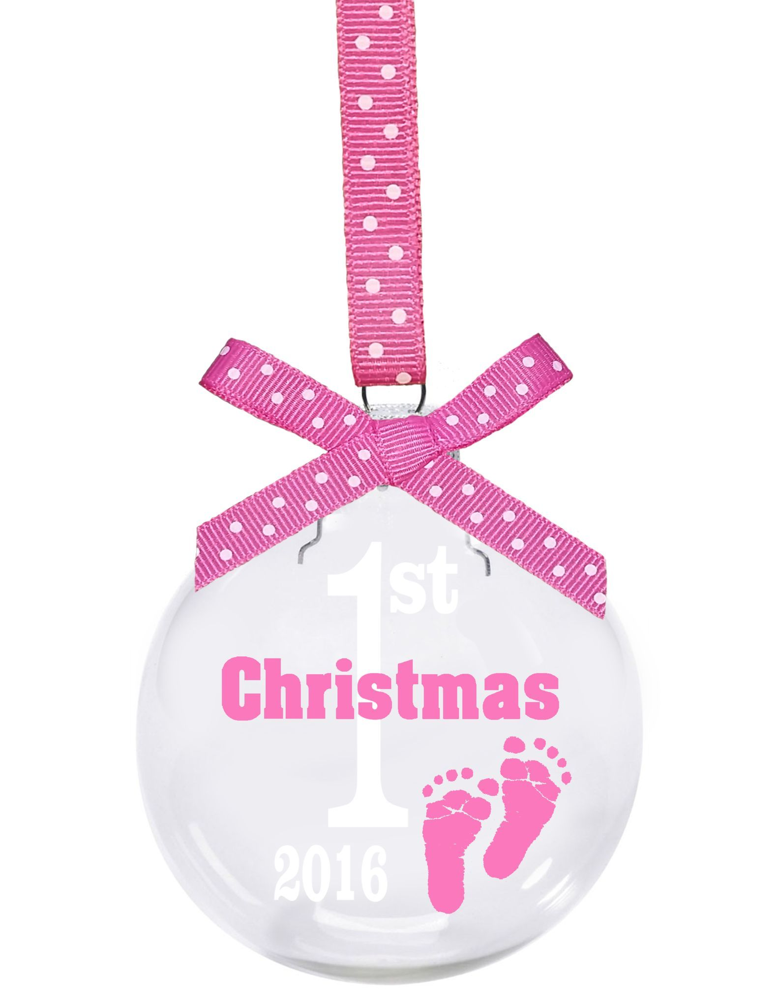Babys First Christmas Glass Ball Christmas Ornament Is A 3 Glass Ornament With Babys First Christmas 2016 Design Floating Inside The Ornament
