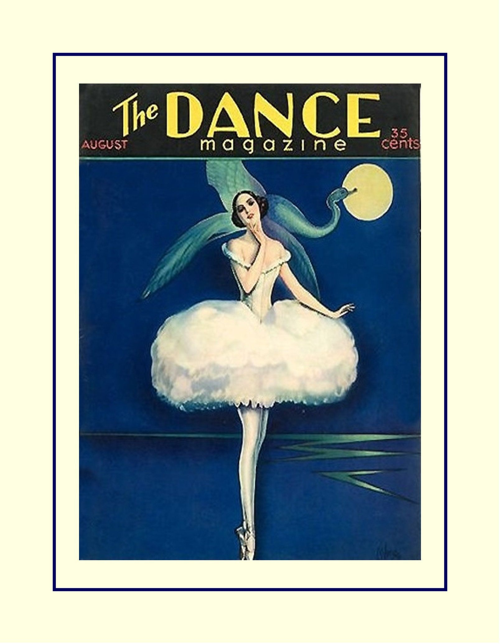 Vintage dance illustration poster gift art deco painting wall art