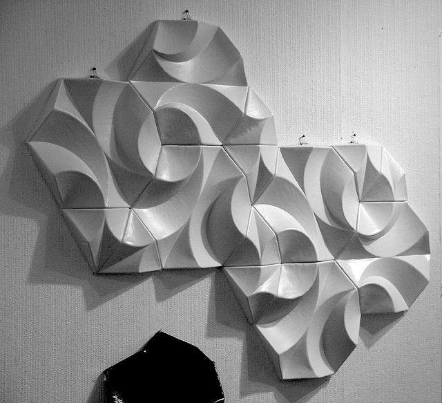 Semi Elevation Of Tessellated Panel Mock Ups Wall Design Wall Patterns Mural