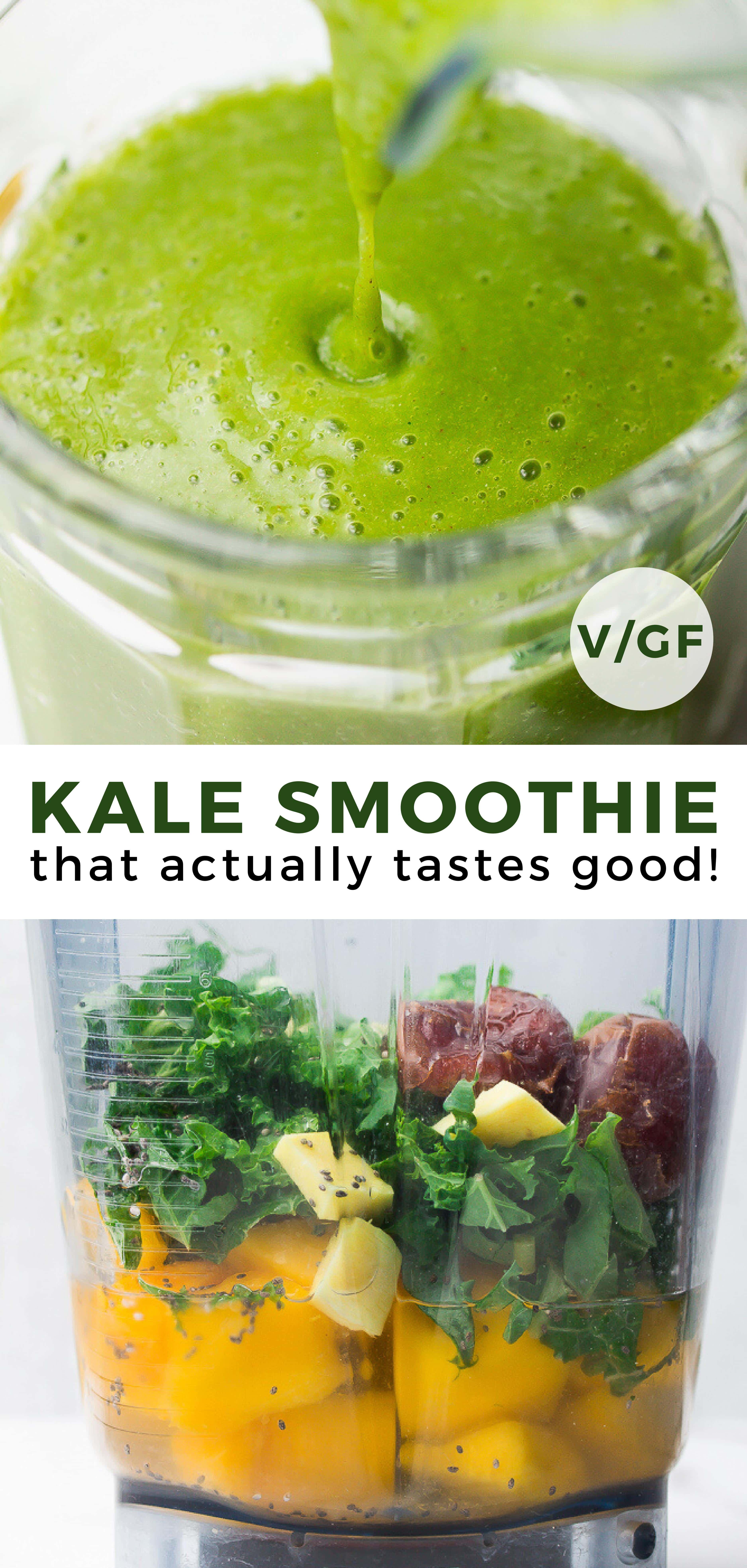 Kale Smoothie - That Actually Tastes Good! - Nora Cooks -   19 fitness Rezepte smoothie ideas