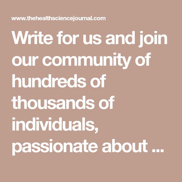 Write For Us | Make money from home | Health, Health, wellness, Make