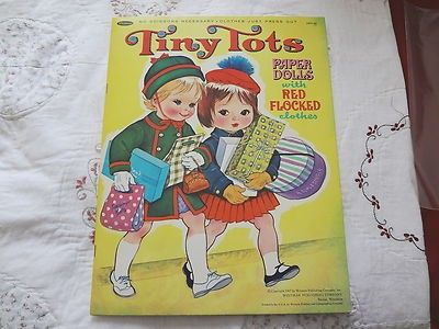 46 yrs. old, TINY TOTS ORIGINAL FLOCKED PAPER DOLLS (03/09/2013)