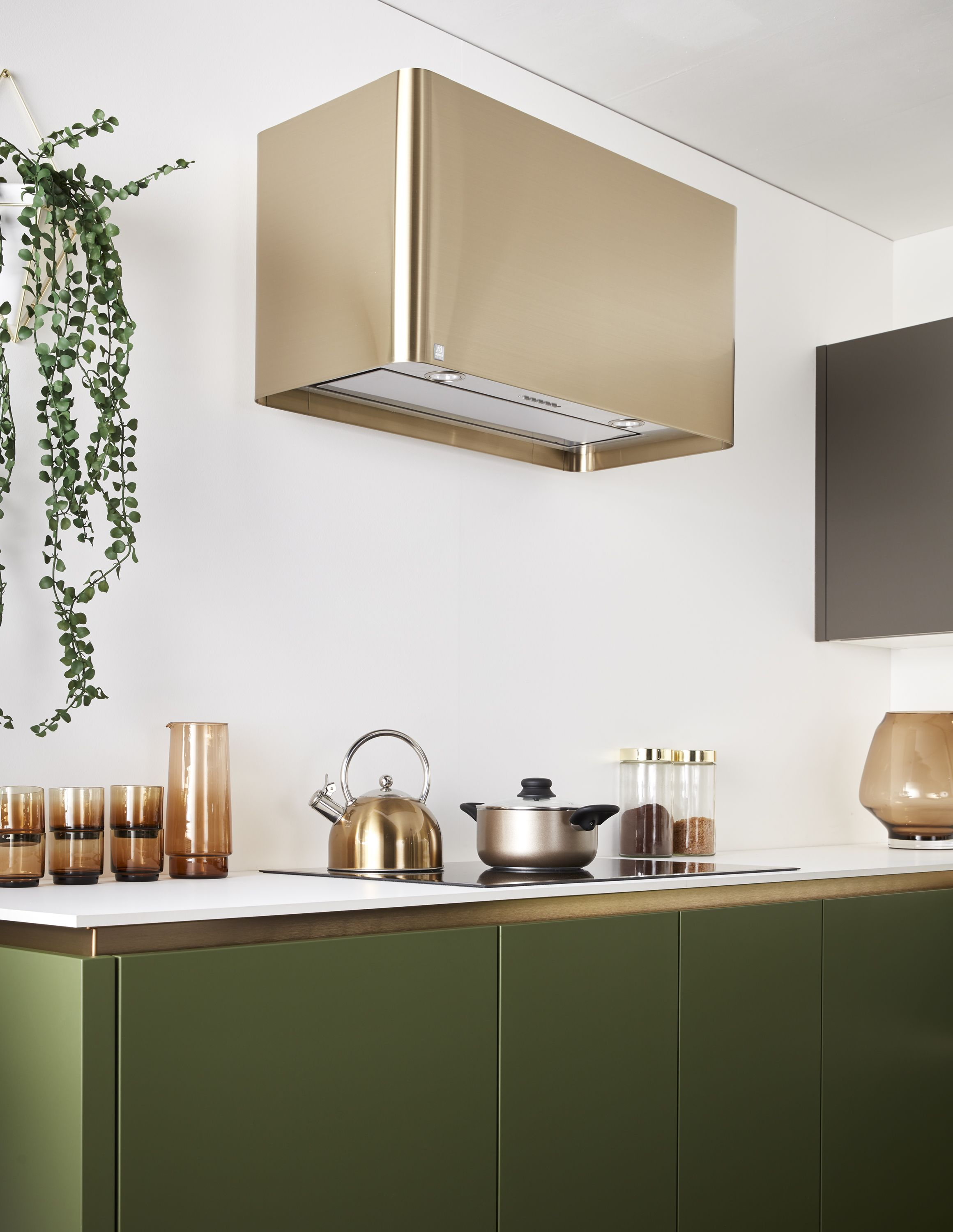 How Spellbinding Is This Brushed Brass Cooker Hood Colourscheme Interiors Home Decor Grey Gre Kitchen Trends Top Kitchen Trends Latest Kitchen Designs