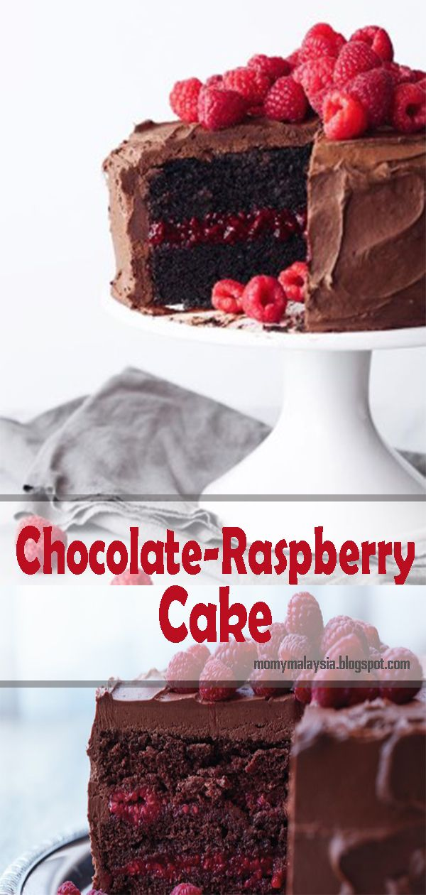 Chocolate-Raspberry Cake #easychocolatecake