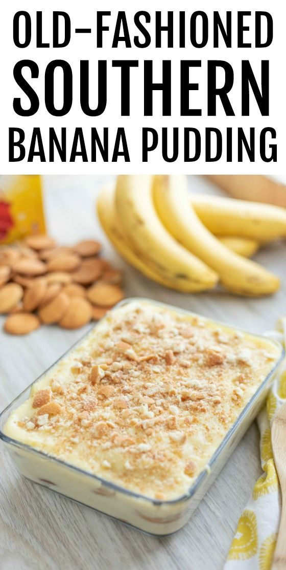 Old-Fashioned Southern Homemade Banana Pudding