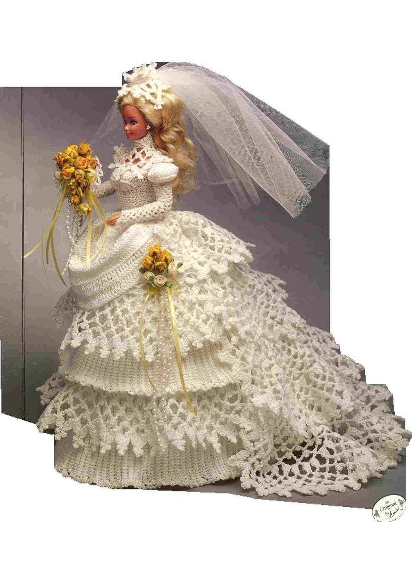 Album Archive Crochet wedding dresses, Barbie wedding