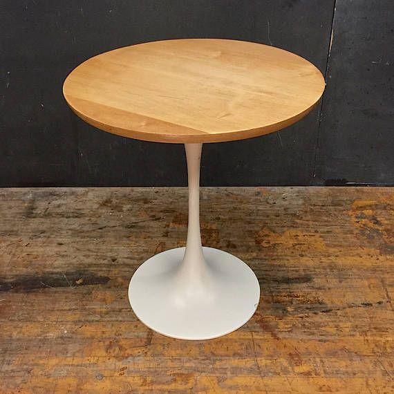 Vintage 60s Burke Birch Tulip Table Like Saarinen Knoll Mid Century Design