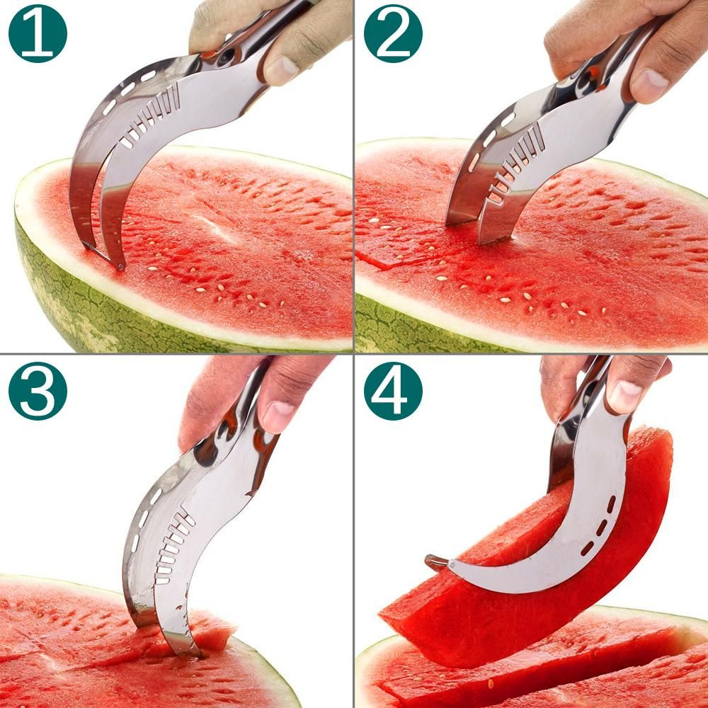20.8*2.6*2.8CM Stainless Steel Watermelon Slicer Cutter Knife Corer Fr – My Secret Store
