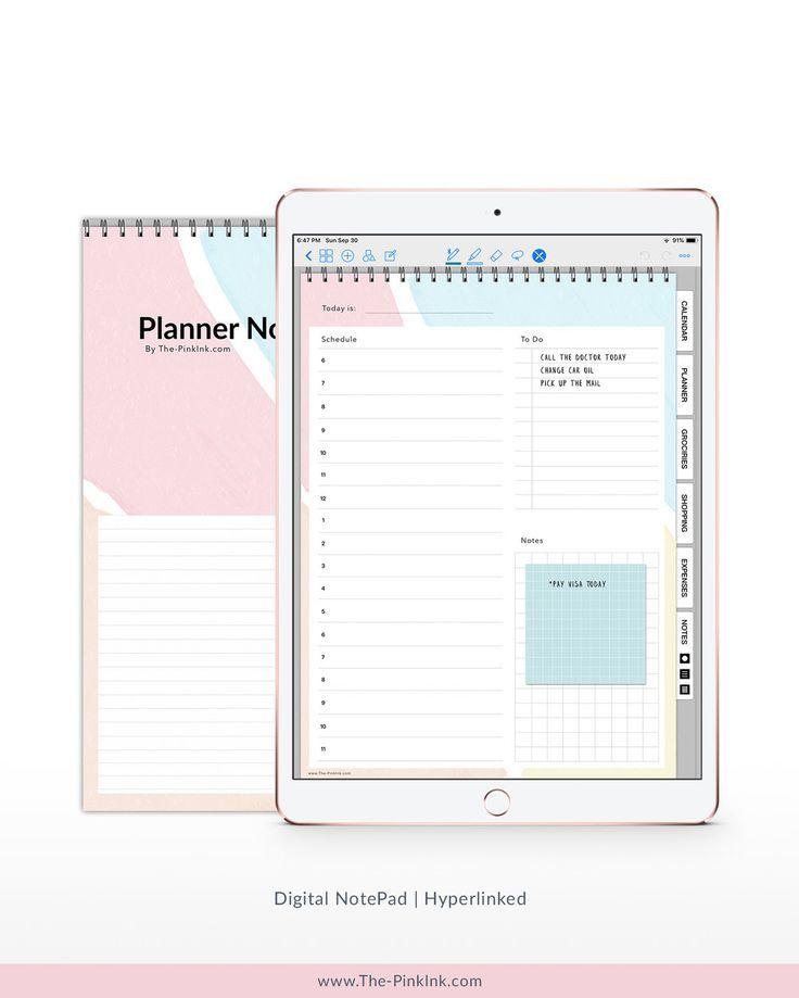 Digital Planner Notepad Digital Notepad Digital
