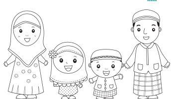 Ramadhan Crafts Buku Mewarnai Kartun Warna