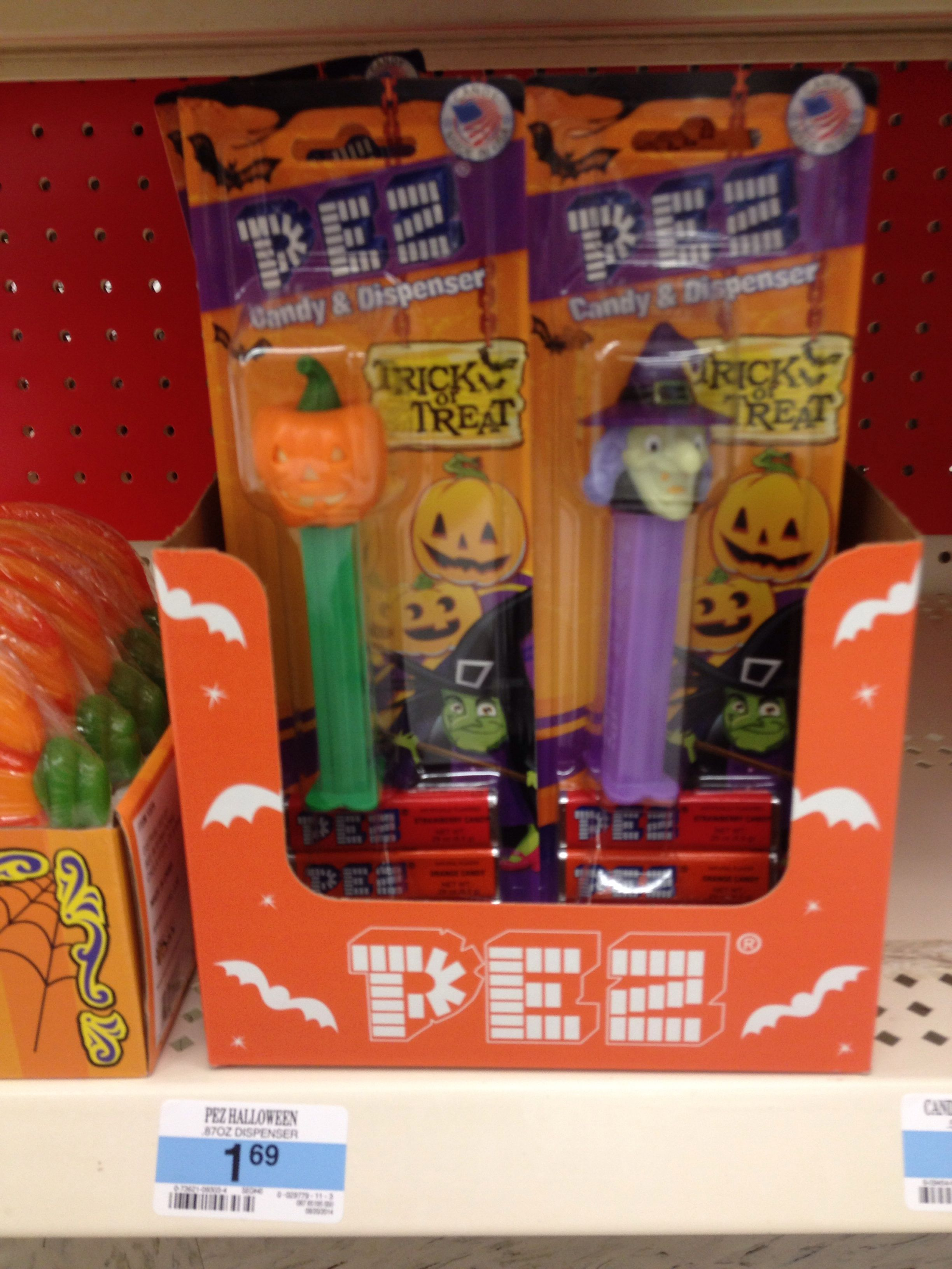 pumpkin and witch pez dispensers and candy at kmart halloween candy - Kmart Halloween