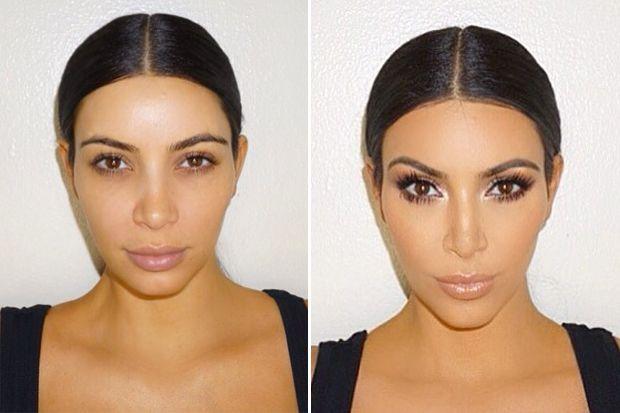 How To Do Your Makeup Like Kim Kardashian Celebuzz Kim Kardashian Makeup Contouring Kardashian Makeup Tutorial Kardashian Makeup