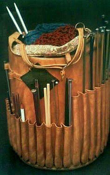 Vintage Knitting Basket