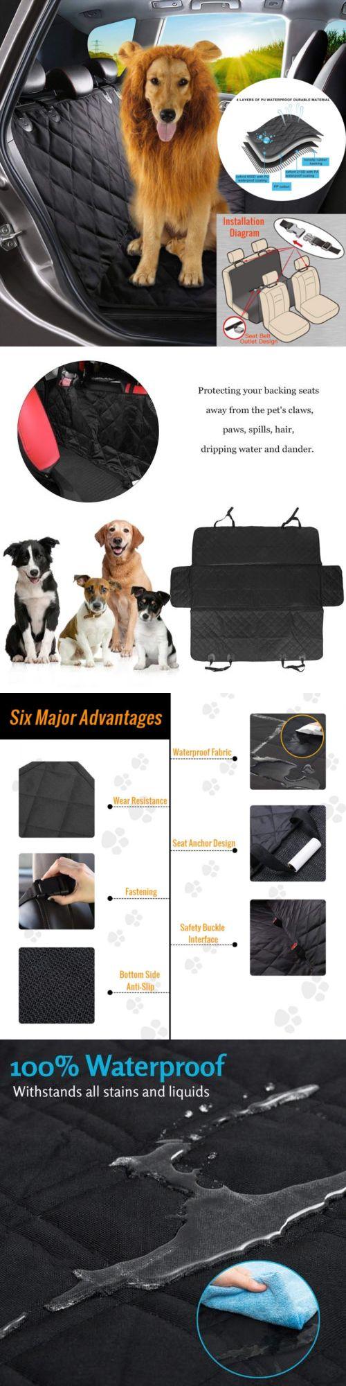 Pet dog car seat cover waterproof suv door van back rear bench