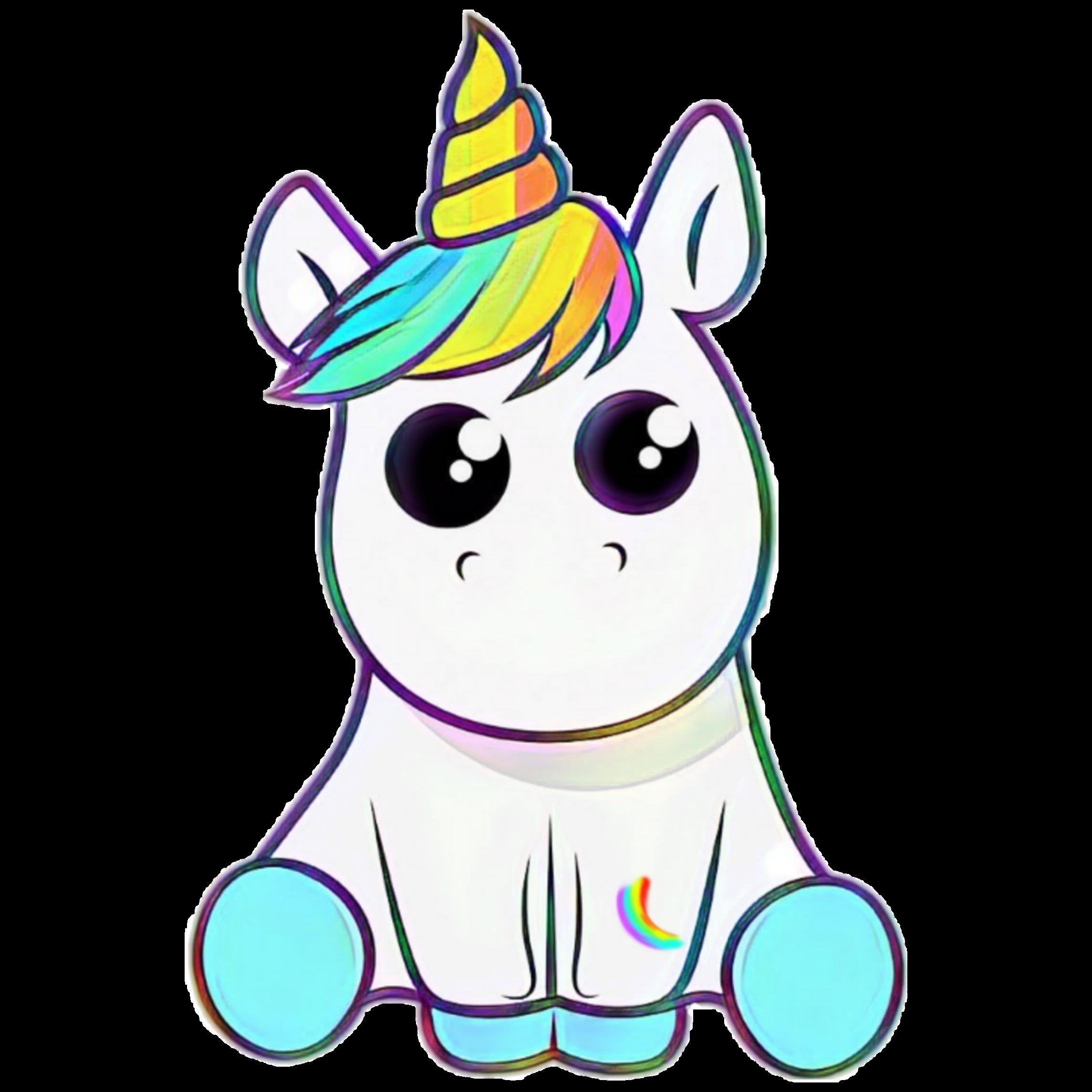 Freetoedit Mq Rainbow Rainbows Unicorn Horse Horn Dibujos