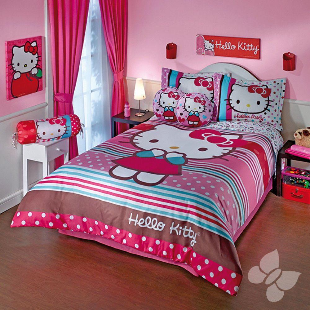 New girls teens sanrio pastel pink aqua sweet hello kitty - Stuff for girls rooms ...