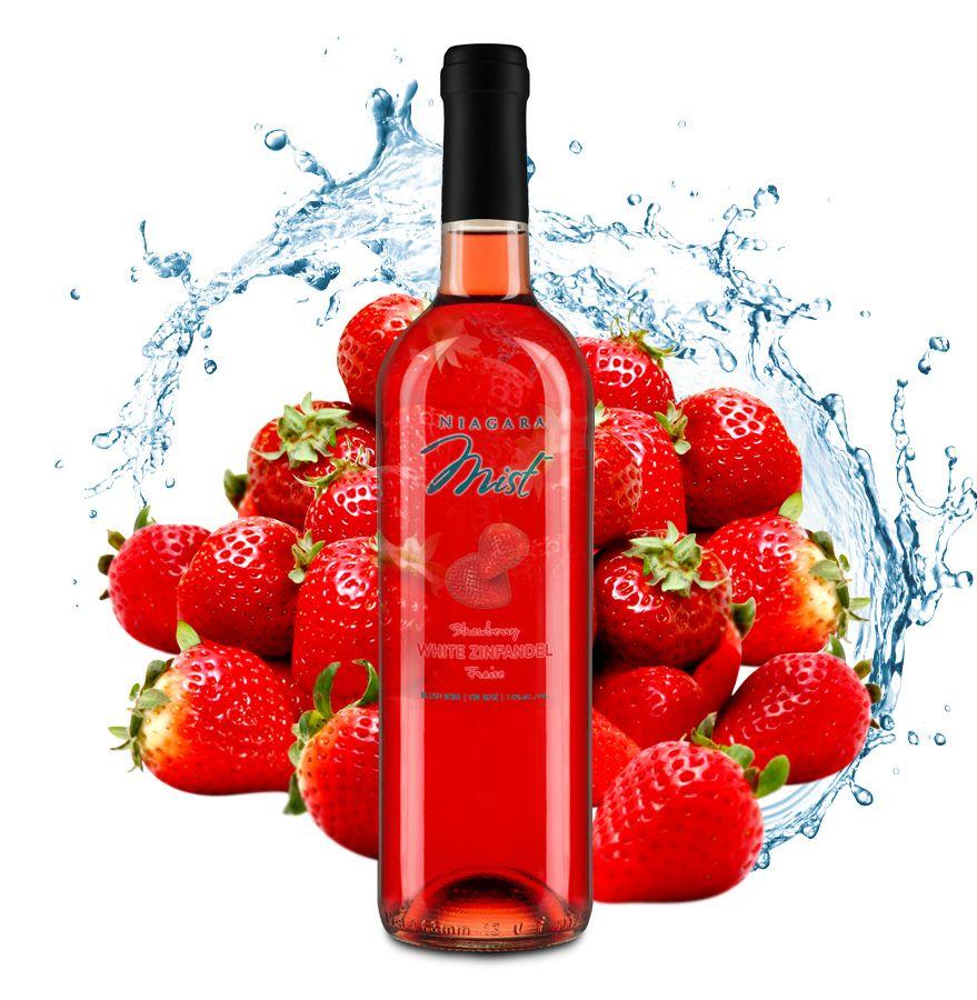 NIAGARA MISTstrawberrywhitezin Wine bottle, Summer