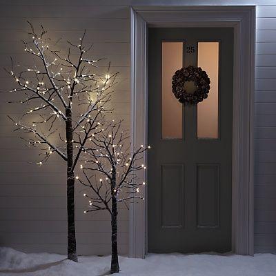 Love Bare Branch Xmas Trees White Twig Tree Twig Christmas Tree Xmas Lights