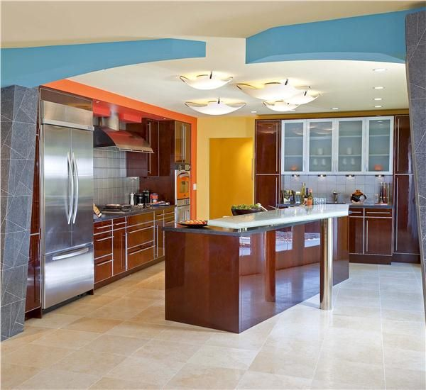 Orange And Blue Kitchen Decor: Yellow, Orange, And Blue Luxury