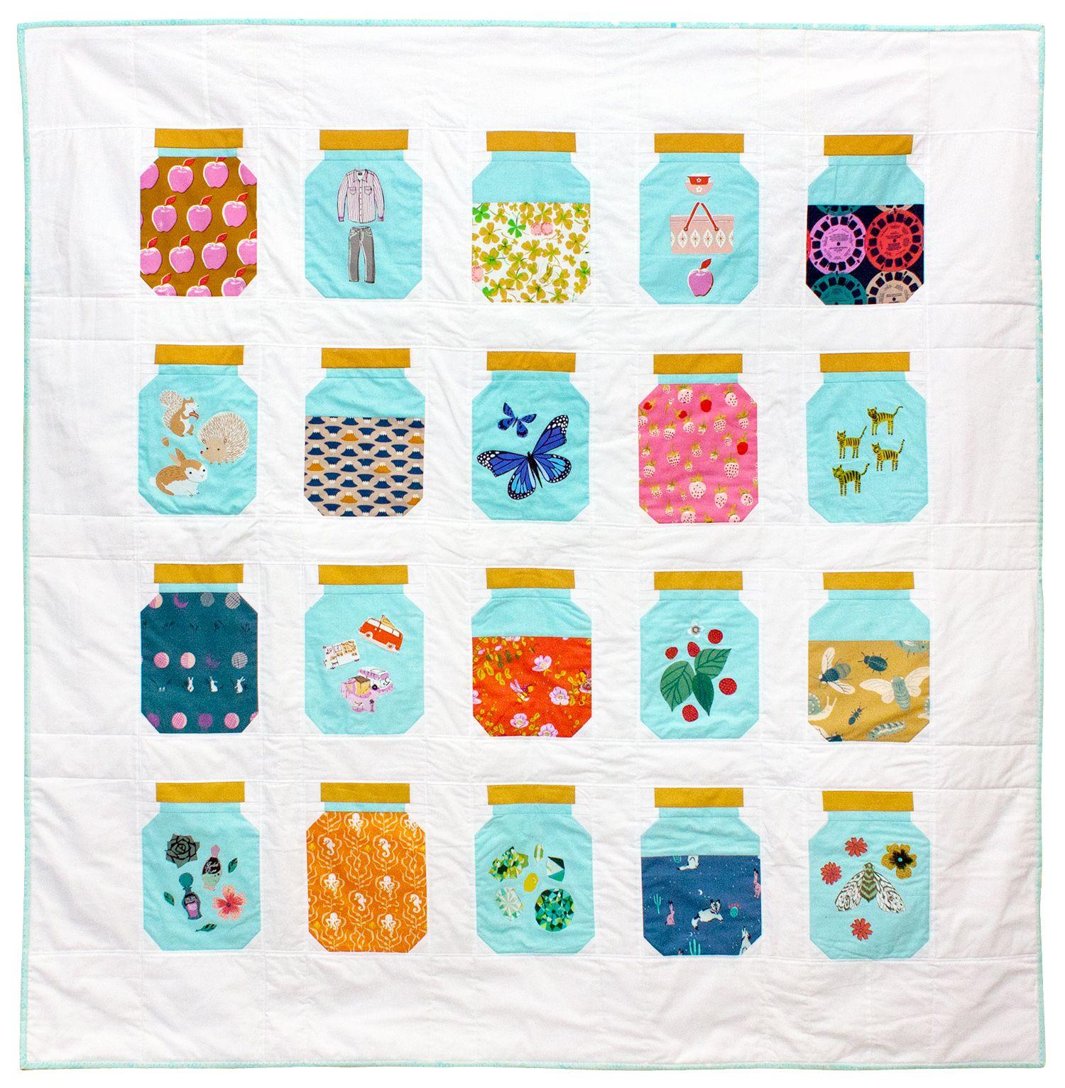 Treasure Jar Quilt Pattern (I Am Luna Sol) | Tutorials, Patterns ... : jar quilts - Adamdwight.com